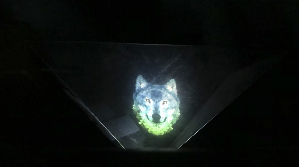 hologram of wolf