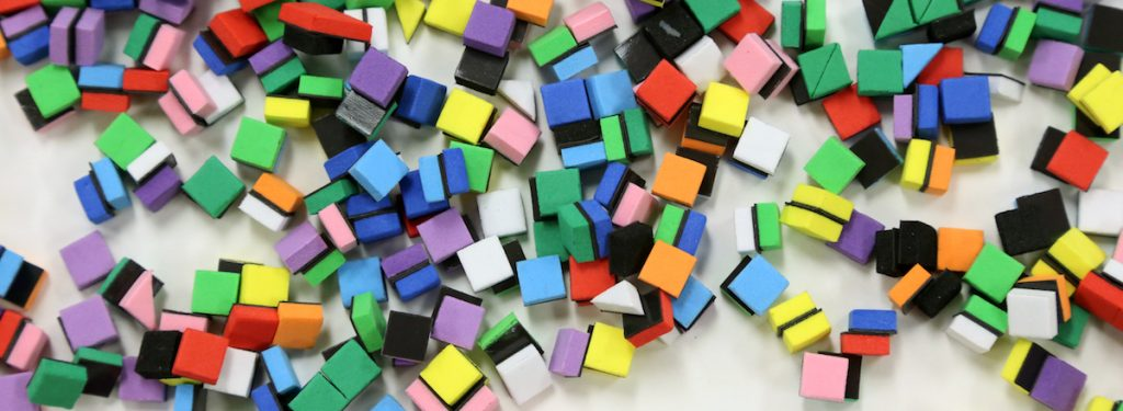 small plastic tiles