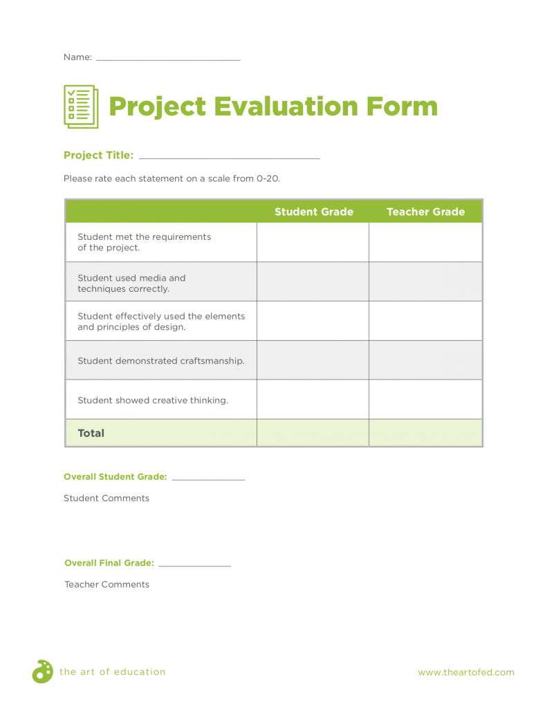 project evaluation form