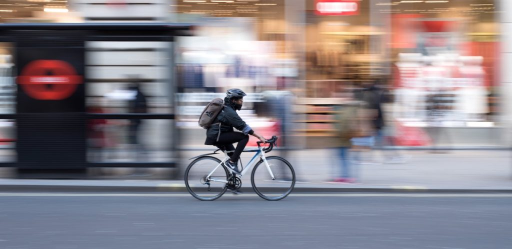 example of panning with bicycle