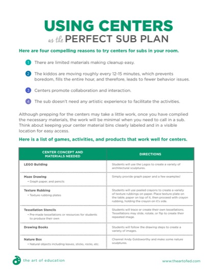 https://theartofeducation.edu/content/uploads/2018/08/38.1CentersForPerfectSubPlan-1.pdf