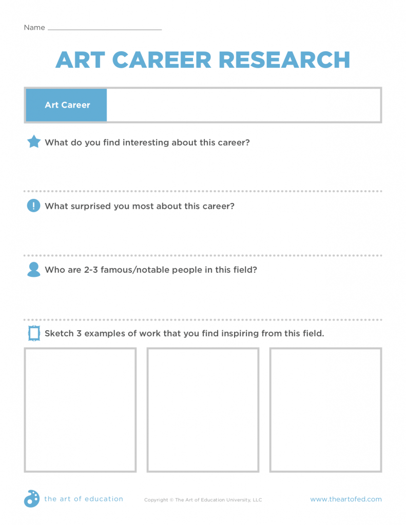 art career research sheet