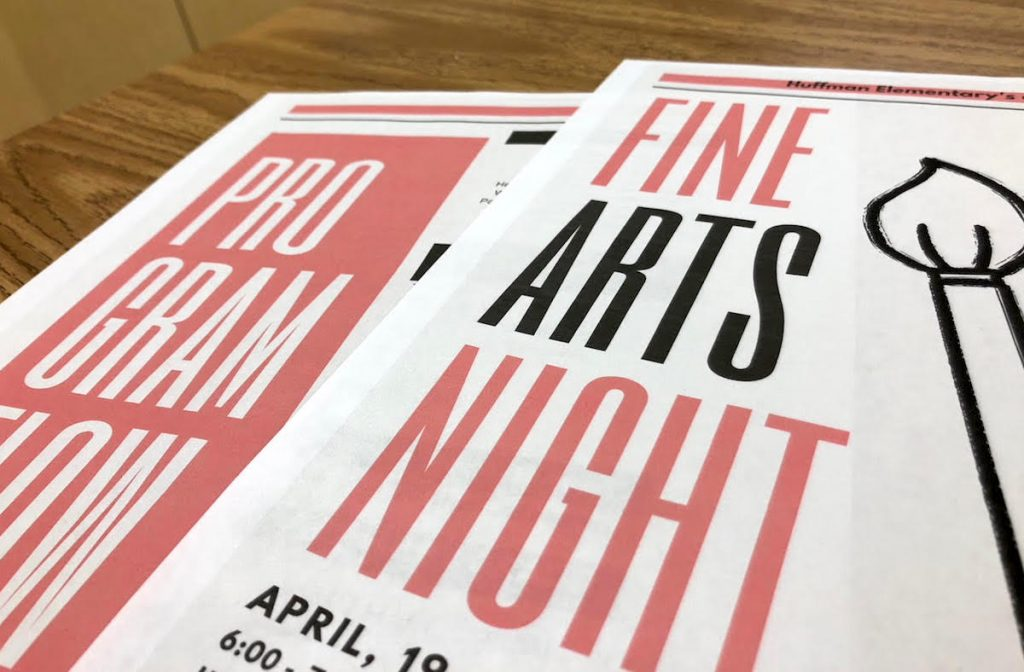 fine arts night poster
