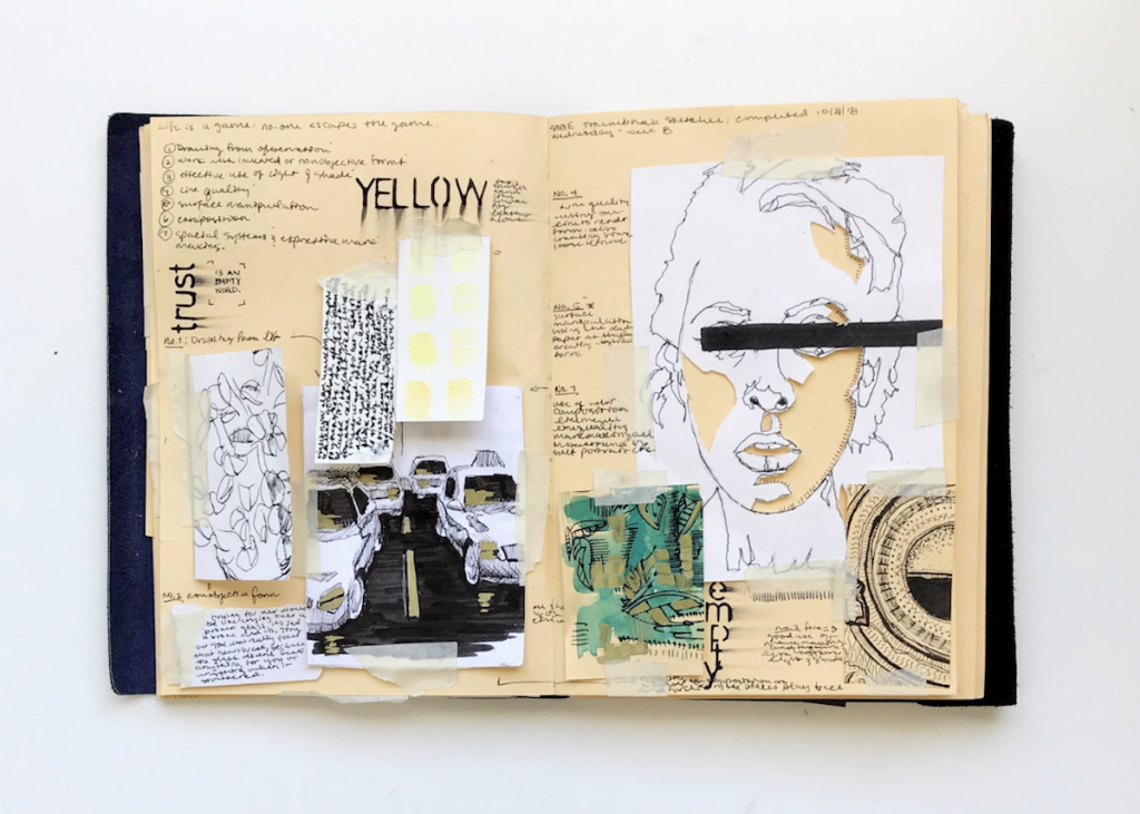 student sketchbook
