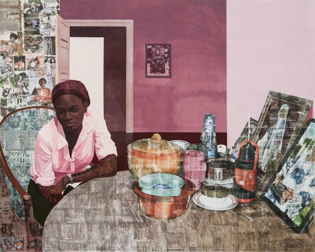 Work by Njideka Akunyili Crosby