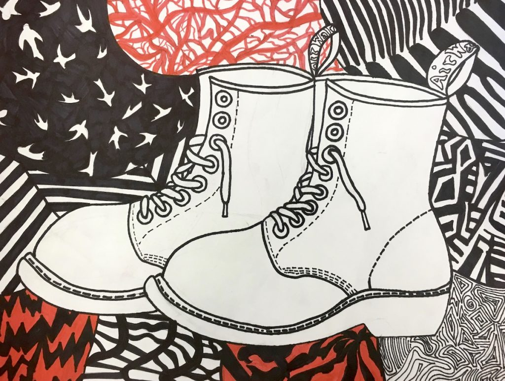 student artwork of shoes