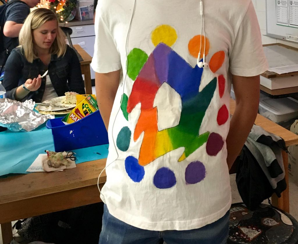 color wheel shirt