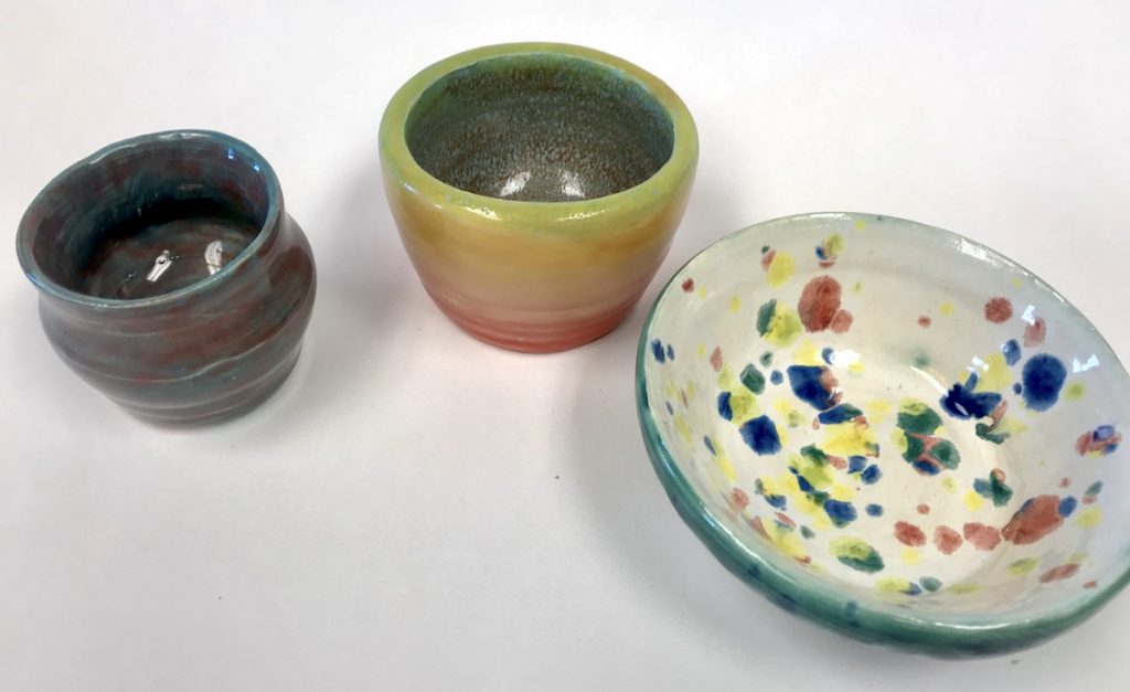 three ceramic pieces
