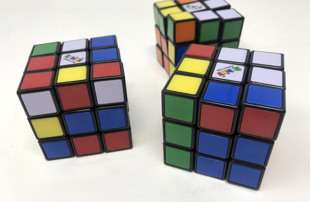 Three Unsolved Rubik's Cubes