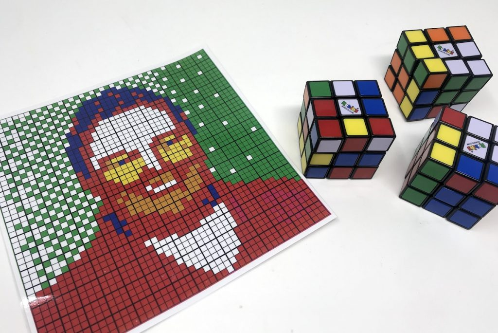 Picture Of Portrait and Rubik's Cube
