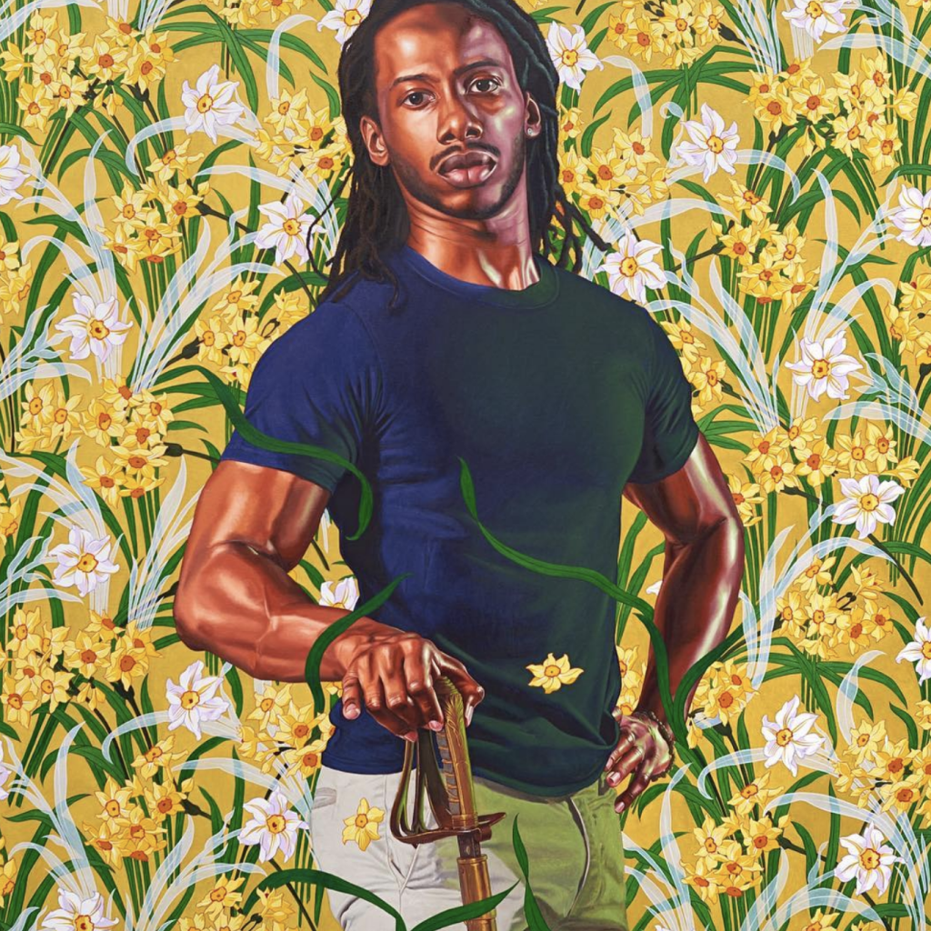 Chad Nurse as General John Burgoyne, 2017 Oil on canvas 72 x 60 in Kehinde Wiley