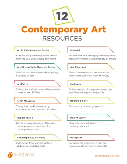 https://theartofeducation.edu/content/uploads/2019/08/44.112ContemporaryArtResources.pdf