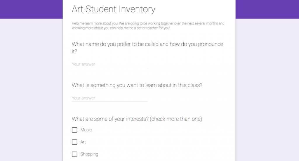 Image of Student Interest Survey
