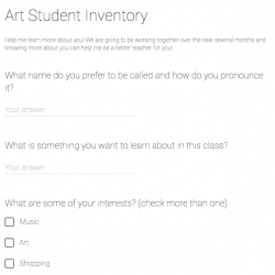 Image of Student Interest Survey