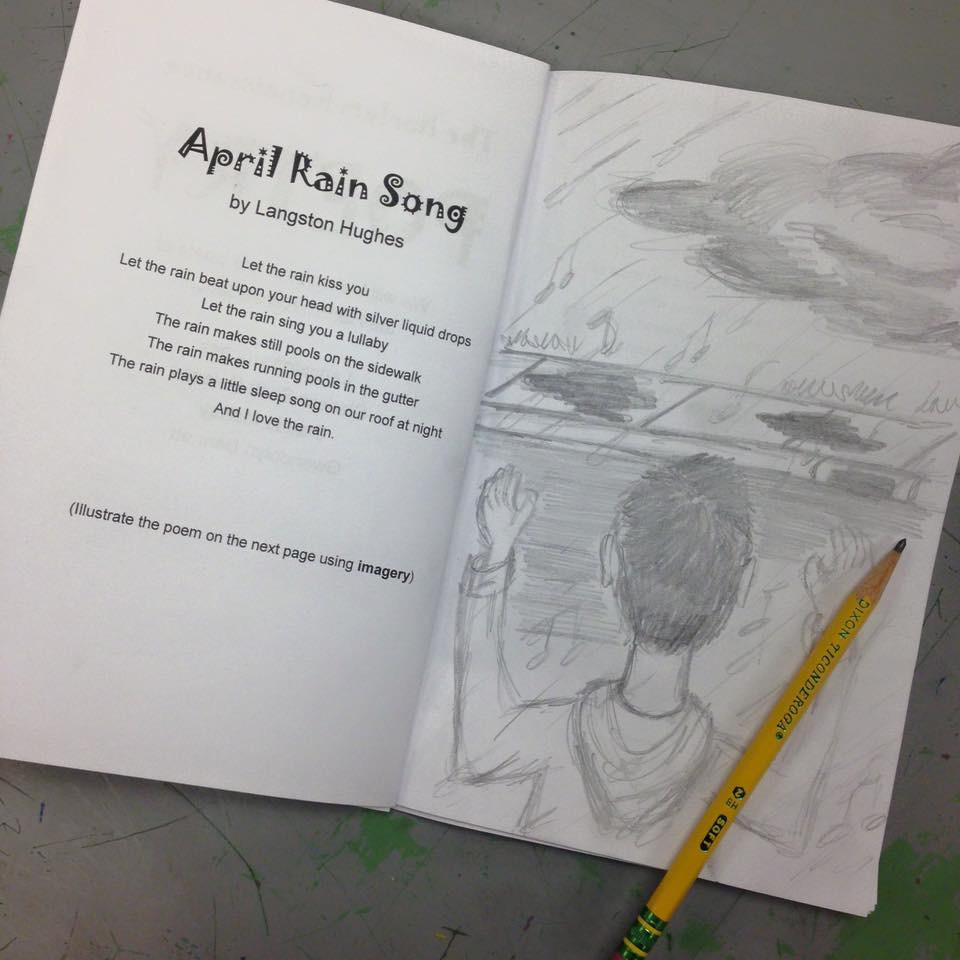 Image of artwork with poem