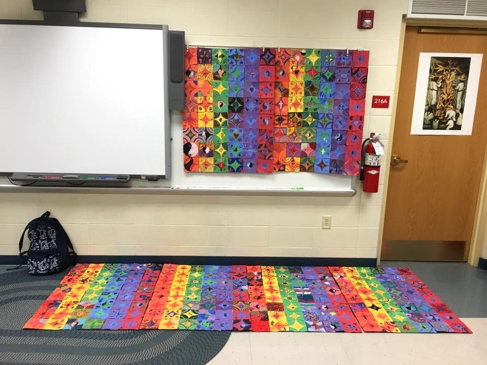 Image of quilt on display