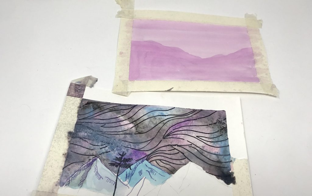 Image of layering watercolors