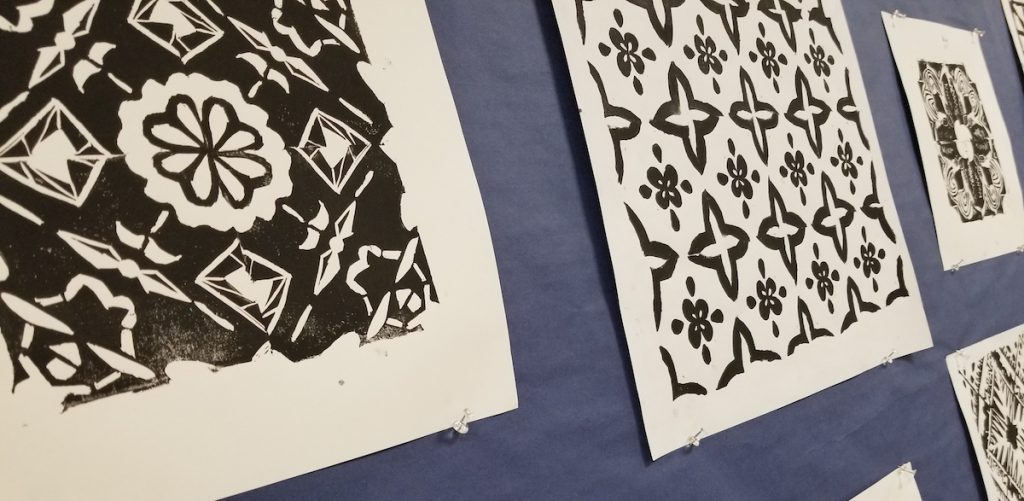 Prints on display