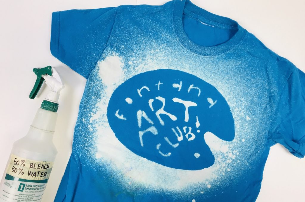 Art Club T-shirt made with bleach