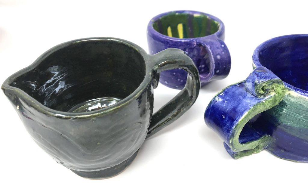 ceramic containers created using a wheel