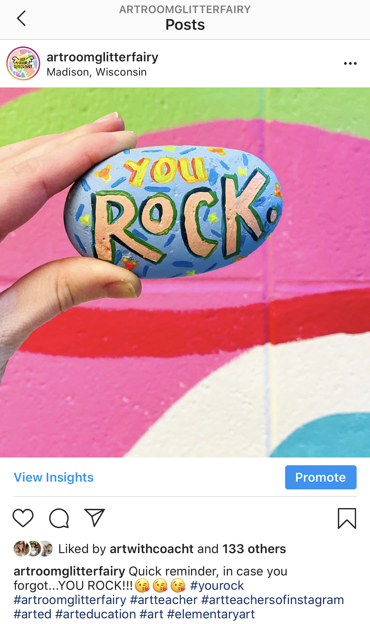 image of rock with text
