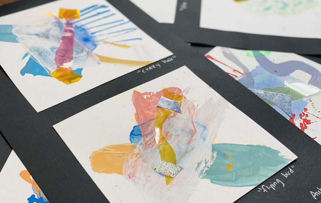 Abstract art created by students